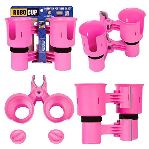 Robocup Getränkehalter für Getränke, Angelrute/Angelrute/Angelstange, Boot, Strandstuhl, Golfwagen, Rollstuhl/Walker/Drumsticks/Mikrofonständer, Hot Pink