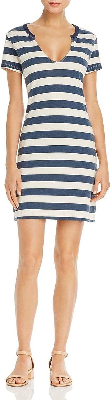 Pam & Gela Womens Mini Striped TShirt Dress