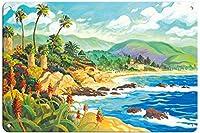 ラグナビーチに恋してティンサインの装飾ヴィンテージウォールメタルプラークレトロな鉄の絵カフェバー映画ギフト結婚式誕生日警告