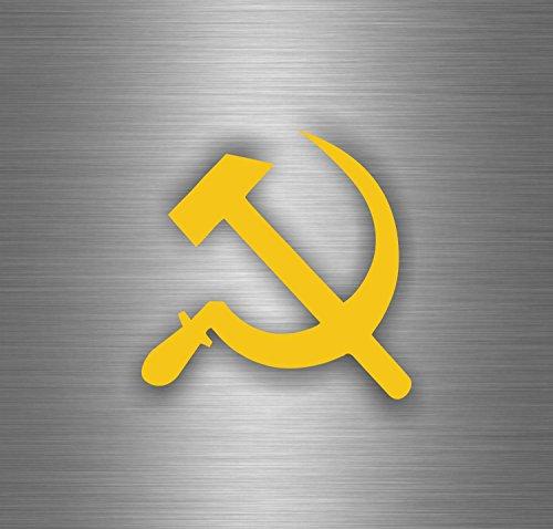 Auto Adesivi-Martello-Falce URSS Bandiera USSR CCCP sovietique C