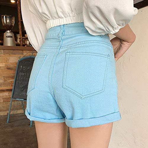 DAIDAICDK Classic Vintage Hoge Taille Brede Been Vrouwelijke Casual Losse Zomer Dames Shorts Jeans Voor Vrouwen