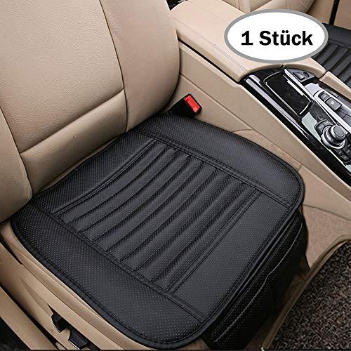 Big Ant Auto Sitzauflage mit PU Leder Autositzbezüge Schutz vor Schmuzt Schweiß Auto Sitzkissen Sitzbezug Auto für Auto Vordersitz,zu Hause und im Büro,Schwarz (1 Stück)