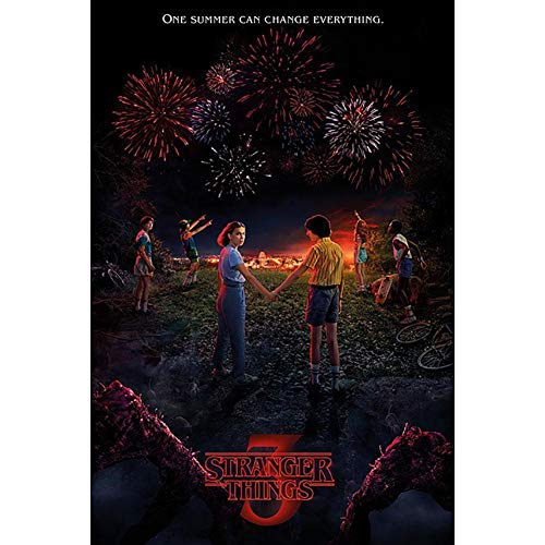 Stranger Things Poster One Summer, No Laminado, Multicolor, 61x91.5 cm