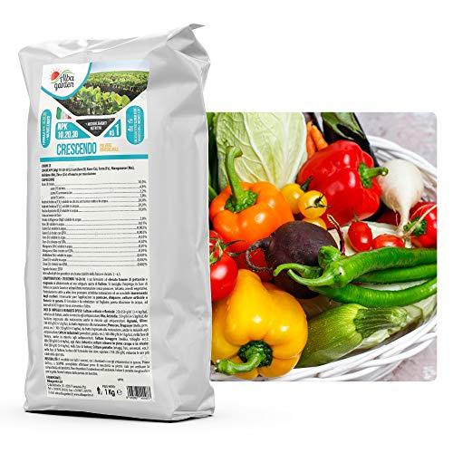 Albagarden - Crescendo NPK 10.20.30 + Microelementi Azoto Fosforo Potassio per Piante Orto Prato Agrumi Orchidee Giardino x 1 kg