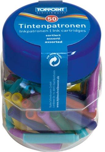 100 (2x50Stk) Füllerpatronen Patronen für Füller farbig