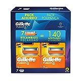 Gillette Fusion5 Cuchillas de Afeitar Hombre, Pack Ahorro Champions League, Paquete de 7 Recambios