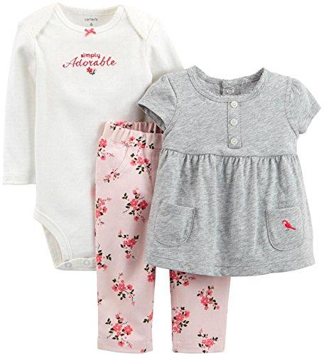 Carter#039s Baby Girls#039 3 Pc Back Art 126g365