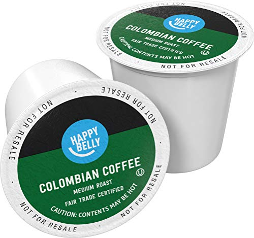 Amazon Brand - 100 Ct. Happy Belly Medium Roast Coffee Pods, Colombian, Compatible with Keurig 2.0 K-Cup Brewers