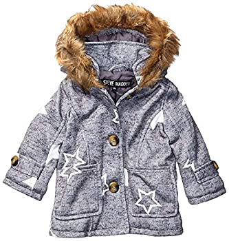 Steve Madden Girls Baby Girls Fashion Outerwear Jacket  More Styles Available  Wool Heather Gray 12M