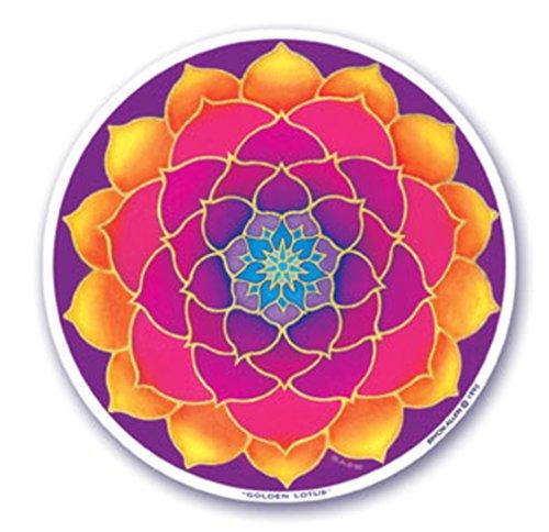 Mandala Golden Lotus Fenster Aufkleber Aufkleber
