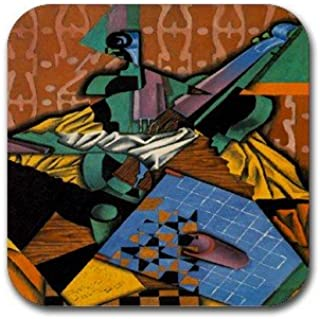 Violin and Checkerboard By Juan Gris Coasters (Set of 4)