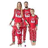 Pijamas Mujer Camisón Conjunto De Pijamas Navideños A Juego con La Familia Ropa para Mamá Y Niños Muñeco De Nieve Estampado Cálido Camiseta Y Pantalón Ropa De Navidad para Adultos Traje Kids140 O