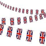 AhfuLife VE Day Bunting, 30 banderines de bandera británica para celebraciones del día nacional, juegos de fútbol, decoración de fiesta real