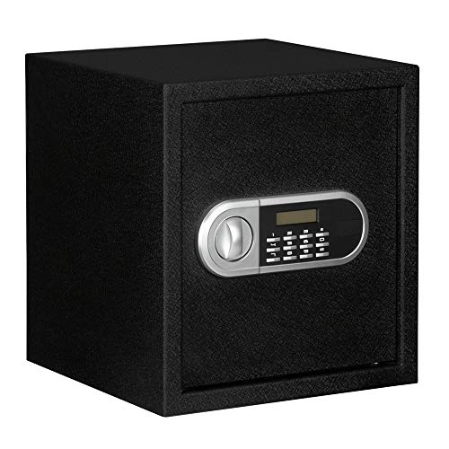 """Fire Safe Home Office Fireproof and Waterproof Use Electronic Password Steel Plate Safe Box 13x13x14.2""""can store various valuables such as cash legal documents passports jewelry etc"""