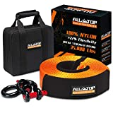 ALL-TOP Nylon Heavy Duty Tow Strap Recovery Strap Kit : 3 inch x 30 ft (35,000 lbs) 100% N...