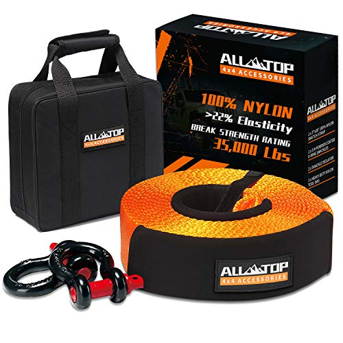ALL-TOP Nylon Heavy Duty Tow Strap Recovery Strap...