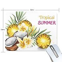 夏のフルーツパイナップル マウスパッド 滑り止めゴム製裏面 おしゃれ 厚くした 事務用のマウスパッド 携帯用 25X19CM