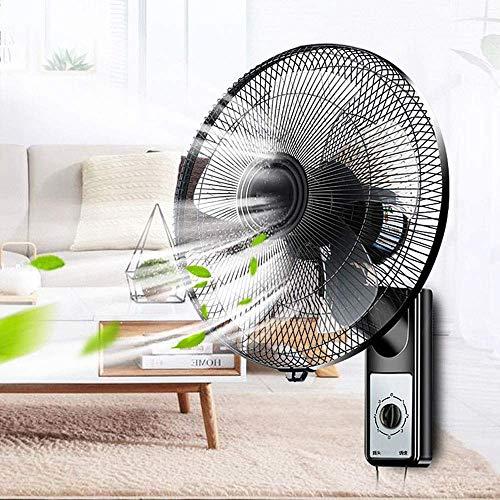 Ventilador de seguridad de ventilador de ventilador oscilante montado en la pared, ventilador de montaje de pared oscilante en el silencio del hogar, 3 velocidades, cable de alimentación 75 cm, 14/16