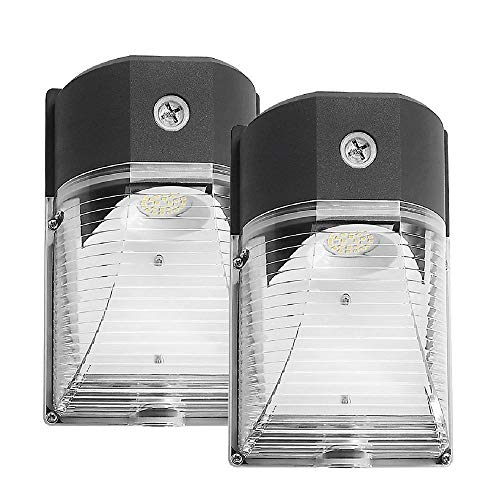 CINOTON LED Wall Pack Light, 26W 3000lm 5000K (Dusk-to-Dawn Photocell,Waterproof IP65), 100-277Vac,150-250W MH/HPS Replacement, Outdoor Security Lighting (2pack)