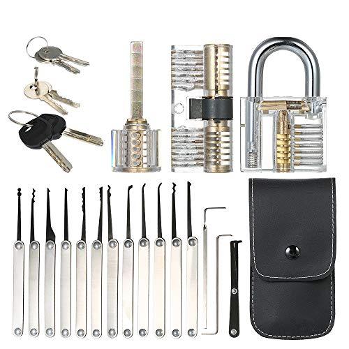 Visible Llave candados Ver a trav/és Transparente Pr/áctica Locks Transparente Juego Interesante con Dos Llaves