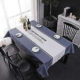 Générique JUNYUANSHOP Nordic Nappe Style Minimaliste rectangulaire Coton et Lin Nappe en Tissu Tissu Maison Cuisine Nappe Party...