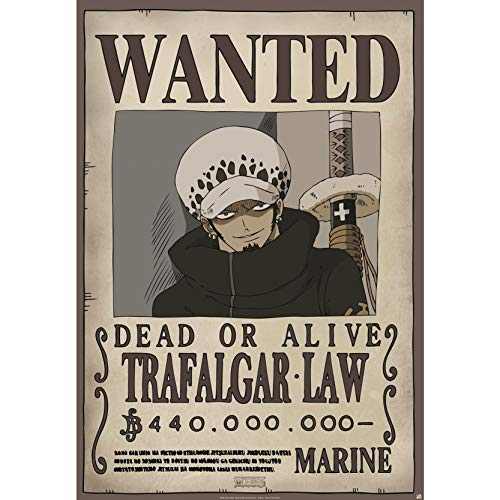 ABYstyle One Piece Wanted Trafalgar Law - Póster (98 x 68 cm)