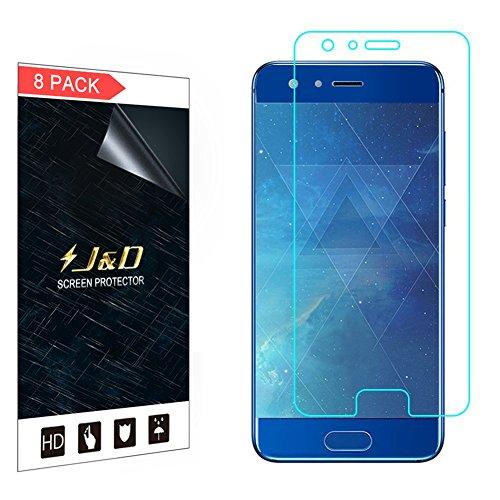J&D Compatible para 8 Paquetes Huawei Honor 9 Premium Protector de Pantalla, [NO Cobertura Completa] Prima Escudo de Película Transparente HD Protector de Pantalla para Huawei Honor 9 Premium