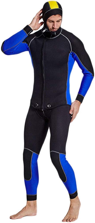 DIMPLEYA Tauchanzug Zweiteiliger Badeanzug Herren 3mm Diving Special Rubber Mit Sonnenschutzmittel Warmes Und Kaltes Zweiteiliges Design Einfach Vom Surf-Tauchen