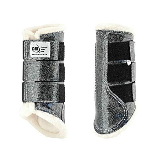 dsb The Glossy Dressage Sport Boot - Grey Glitter (Large)
