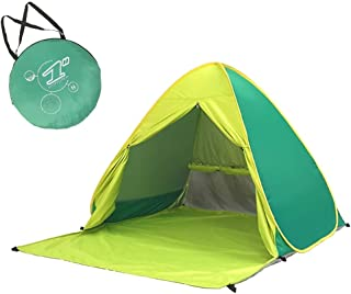 Tent and Sleeping Bags Foldable 100% Waterproof and UV Resistant 2 Person Tent for Family Garden/Camping/Fishing/Beach