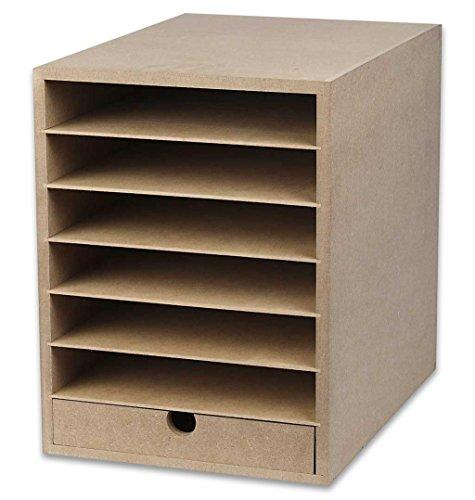 Papieraufbewahrungseinheit, A4, 25 x 33 cm, Tiefe: 32 cm, MDF, 1 Stück