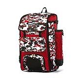 Boombah Catchers Superpack Hybrid Digital Camo Bat Bag Red/Black - Wheeled & Backpack Version
