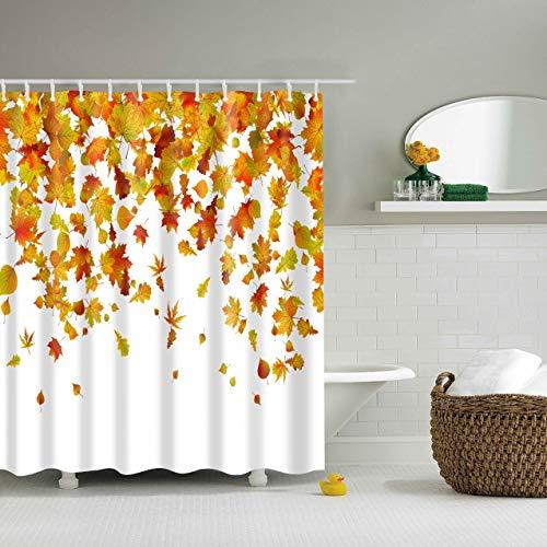 XCBN Árbol de Plantas Tropicales Pantalla de baño Impermeable con Ganchos Cortinas de Ducha Cortina de baño para decoración de baño A5 150x200cm