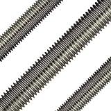 Opiol Quality, 2 barre filettate da 1000 mm, a norma DIN 975, in acciaio inox A2, lunghezza 1 m