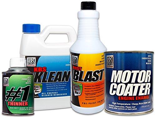 KBS Coatings 58002 Gloss Black Motor Coater Engine Paint Kit