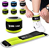 BONA Fitness Adjustable Ankle Weights with Reflective Trim Set-2-5lbs for Men and Woman(N...