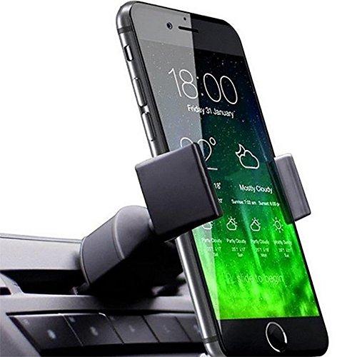 YSHtanj Universal-Halterung für Auto-CD, Fahrzeug-Lüftungsschlitze, rutschfest, für Telefon, GPS-Geräte, Schwarz