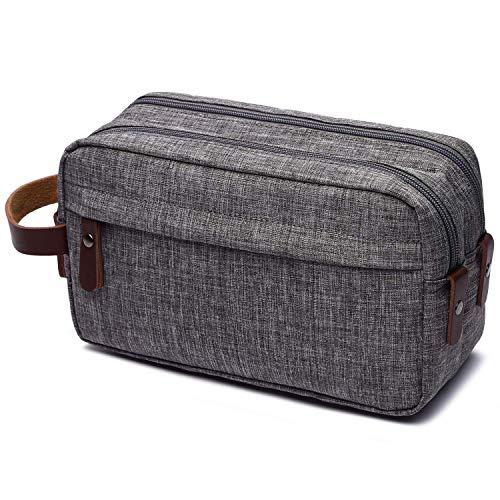 Men's Toiletry Bag Travel Dopp Kit Bathroom Shaving Organizer for Toiletries (grey)