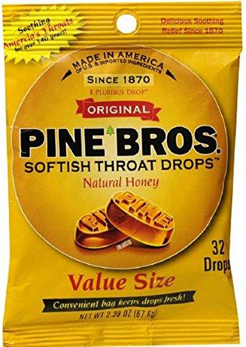 Pine Bros Throat Drops Ho Size 32ct Pine Bros Throat Drops Honey 32ct