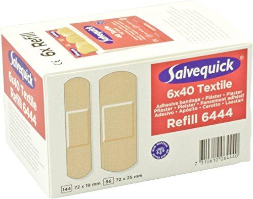 Salvequick Pflasterspender und refill - verschiedene Sorten (Karton á 6 refills, rot (textile) - Ref. 6444)