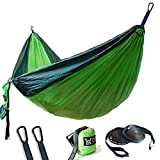 WINNER OUTFITTERS Double Camping Hammock - Lightweight Nylon Portable Hammock, Best...