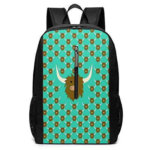 Bull Face Iconic Casual Campus Rucksack Computer Tasche Business Daypack Laptop Tasche Schultasche Schultasche 17 Zoll