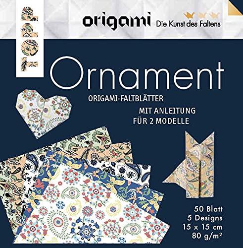 Origami Faltblätter Ornament: 50 Faltbläter in 5 Designs mit Anleitungen für 2 Modelle (Die Kunst des Faltens)
