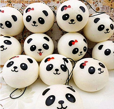 5Five Cute Panda Cartoon Faccia Squishy Cellulare Cellulare Appendere Fascini Cinghie Corda