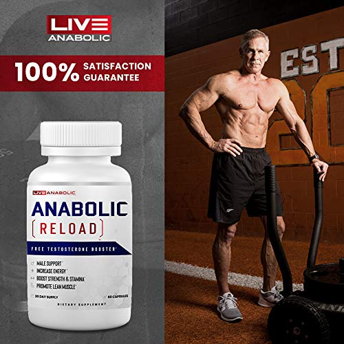 LiveAnabolic: Anabolic Reload - Vitamin D Source - 60 Capsules, 30-Day Supply - Supports Lean Muscle and Energy Levels - T-Level Support - Natural Ingredients, Zero Stimulants