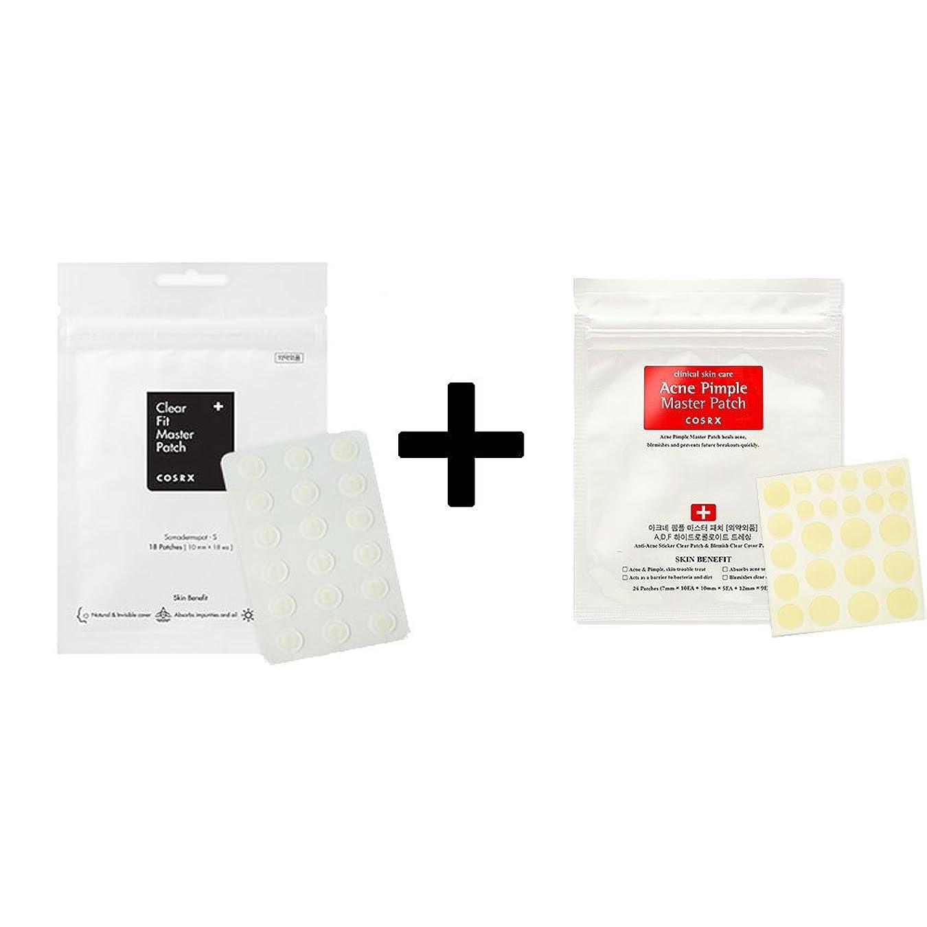 スケルトンポーチ開発COSRX Acne Pimple Master Patch 1EA + Clear Fit Master Patch 1EA/COSRX アクネ ピンプル マスター パッチ 1枚 + クリア フィット マスター パッチ 1枚 [並行輸入品]