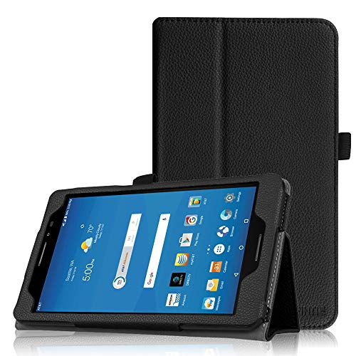 Fintie Folio Case for AT&T Trek 2 HD/U. S. Cellular ZPad 8 - Premium PU Leather Stand Cover with Auto Wake/Sleep for 8' ZTE Trek 2 HD K88 / ZPad 8 K81 Android Tablet (Black)