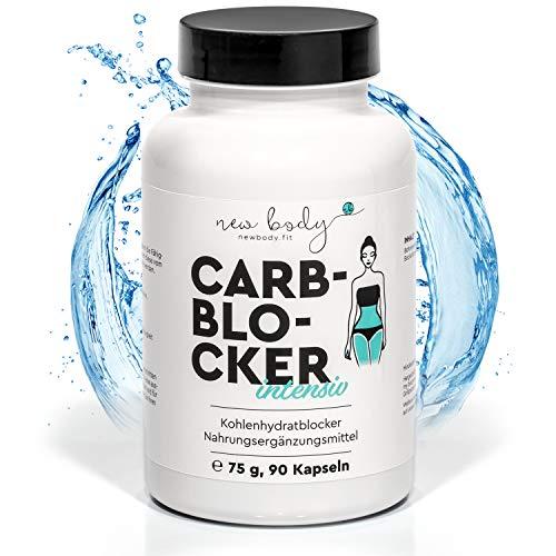 new body® Kohlenhydratblocker - 90 hochdosierte Kapseln - Simpel abnehmen & Energiestoffwechsel steigern - Carb Blocker macht schneller satt - Made in DE