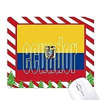 エクアドル国の旗の名 ゴムクリスマスキャンディマウスパッド