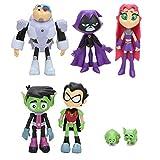 7 piezas Teen Titans Go Figuras de acción, Teen Titans Go Figuras de PVC Juguete Juvenile Titan...